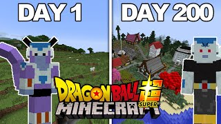 I Played Dragon Ball Z Minecraft For 200 DAYS... This Is What Happened