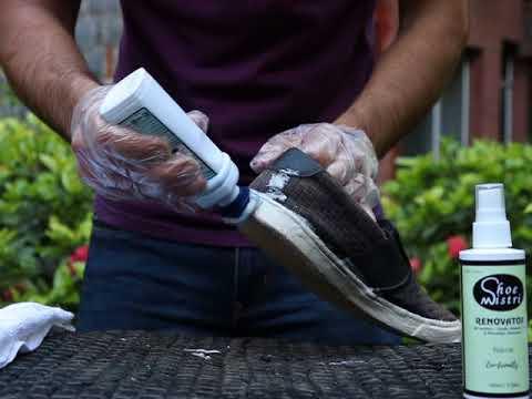 How to clean Clarks Nubuck shoes by Shoe Mistri Shoe Renovator & Shoe Mistri Shoe Shampoo