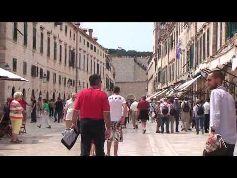 Scenes from the walled city of Dubrovnik, Dalmatia, Croatia