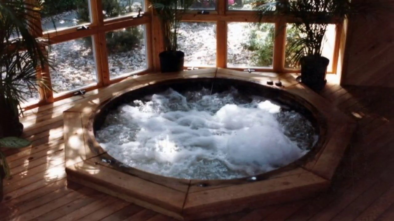 Charming Indoor Hot Tub And Pool Decorating Ideas