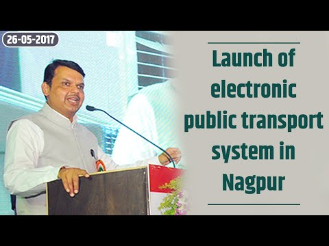 CM Devendra Fadnavis At Launch Of Electronic Public Transport System In Nagpur