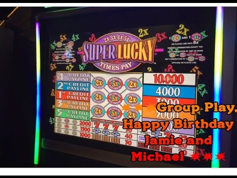 Super Lucky 1 2x 3x 4x 5x Slot 5 Max Bet Igt Group Play Aria