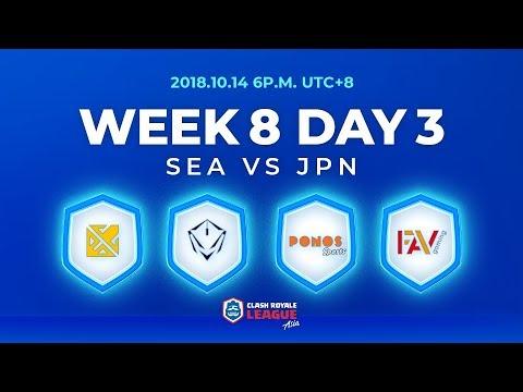 Clash Royale League Asia Season2 - Week 8 Day 3