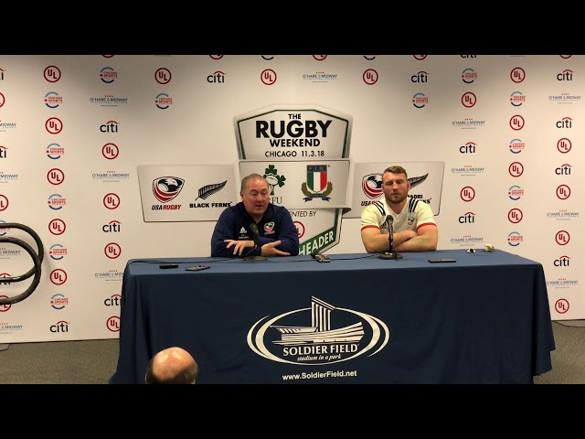 Men's Eagles vs Mãori All Blacks Press Conference