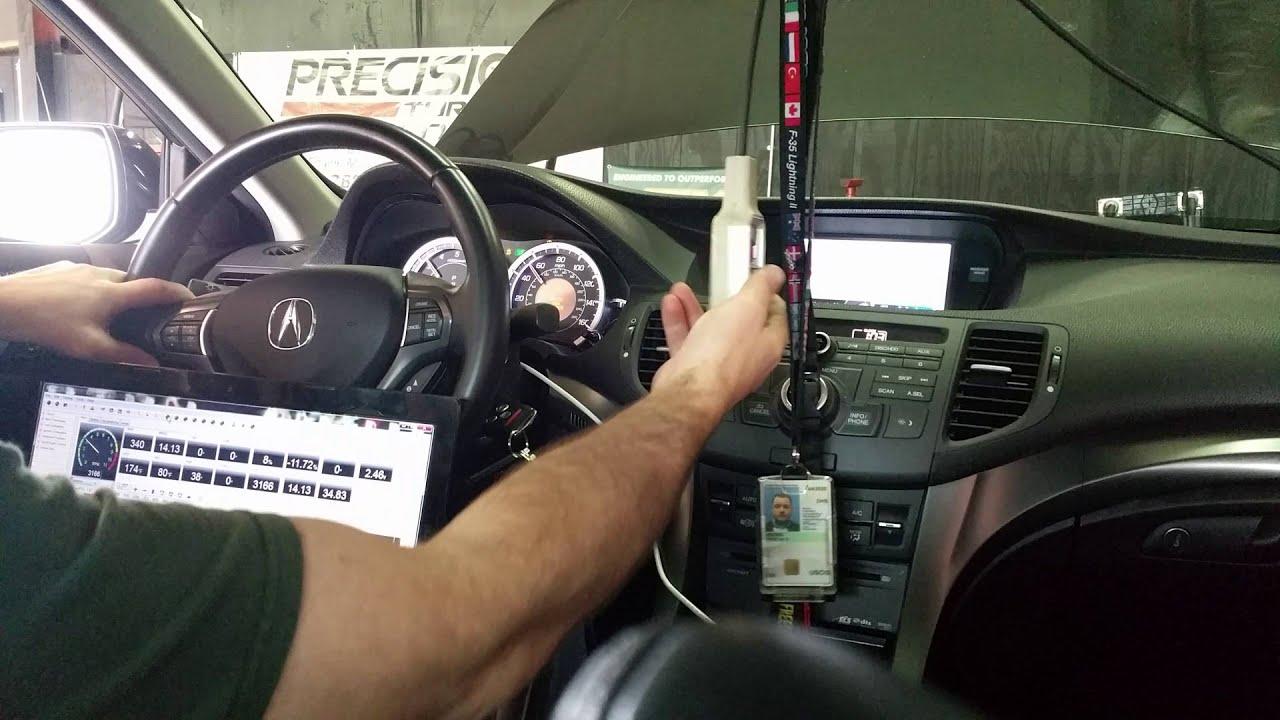 2011 acura tsx v6 dyno within car youtube