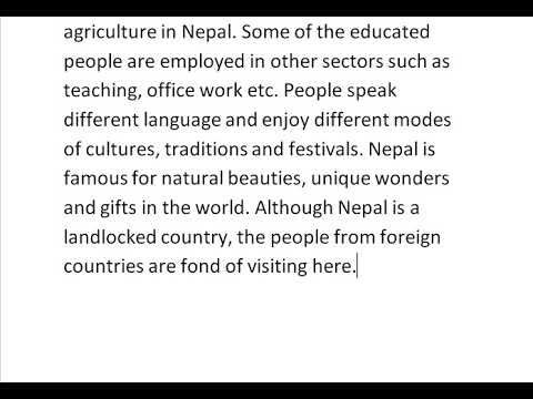 ESSAY ON MY COUNTRY NEPAL