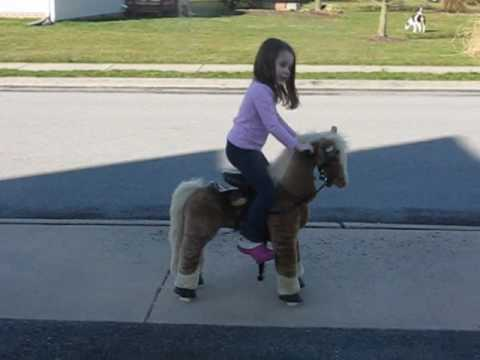 Avery Rides Candycorn The Giddyup 'N Go Pony