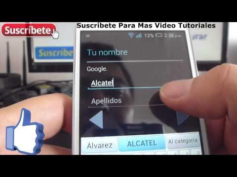 Alcatel Onetouch Pop C7 como crear cuenta en google Español