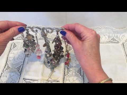 Thrifty Jewelry # 2 - finished paper clips, chunky charms and organizing