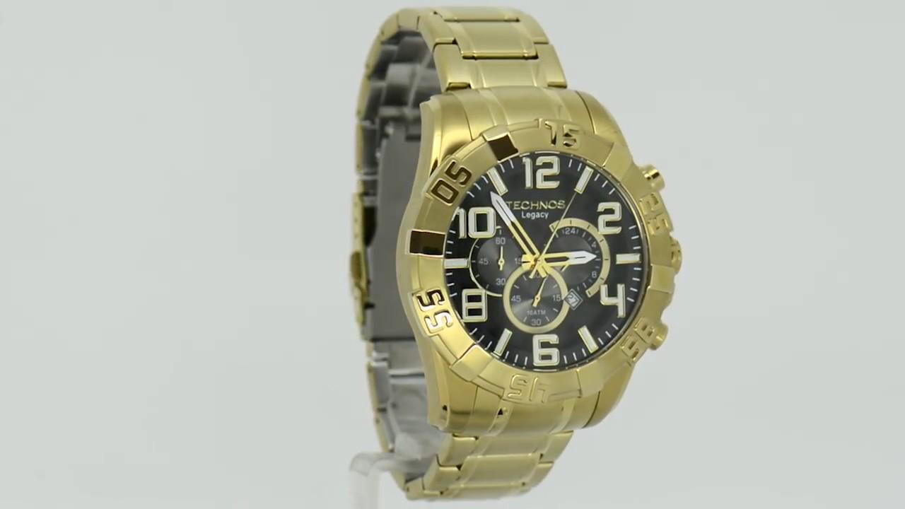 Relógio Technos Masculino Legacy OS20IM 4P - Eclock - YouTube c6e6c35627