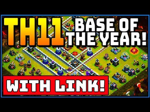 TH11 WAR BASE OF THE YEAR!!! BEST NEW TOWN HALL 11 2019! CLASH OF CLANS | ANTI 3 STAR | WITH LINK