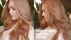 Strawberry Blonde Hair At Home | My Updated Formula | The Best Extensions for Redheads