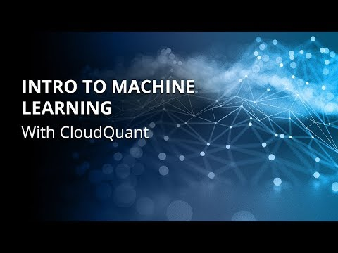Algo Trading | Introduction to Machine Learning with CloudQuant