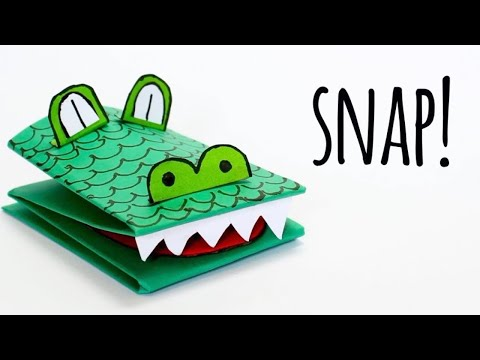 How to Make a Crocodile Paper Puppet