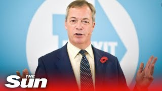 WATCH LIVE: Nigel Farage pulled Brexit Party candidates in 317 seats from the election