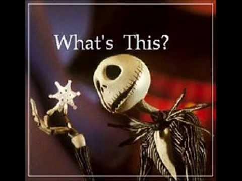What's this? - Nightmare Before Christmas - LYRICS - YouTube