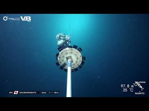 木下紗佑里創下自由潛水世界記録