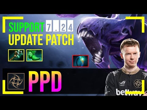 Ppd - Bane Safelane   SUPPORT 7.24 Update Patch   Dota 2 Pro MMR Gameplay #3
