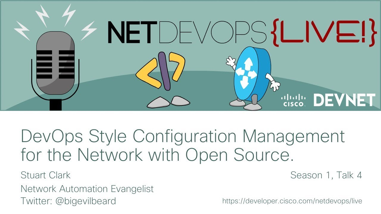 DevOps style configuration management for the network with Open Source
