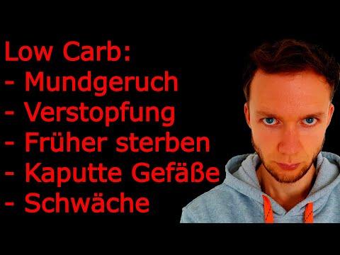Folgen von Low Carb: Mundgeruch, Verstopfung, kaputte Gefäße, früher sterben, Schwäche, Krämpfe uvm.