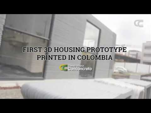 First 3D Housing Prototype Printed in Colombia