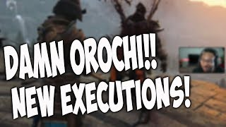 For Honor New Executions Reactions - OROCHI DAMNNNN!!! [Marching Fire Season 8]