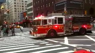 FDNY Engine 23 Responding to an Apartment Fire
