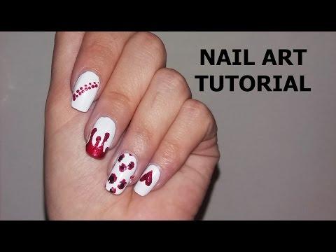 4 modele de unghii (facute cu scobitoarea) | Nail art tutorial