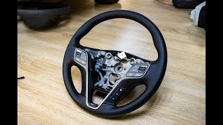 Перетяжка руля для Hyundai Santa Fe 3