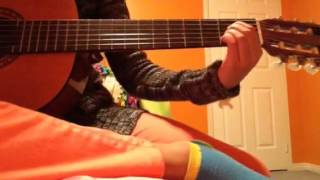 How to play a sponge bob song on the guitar.