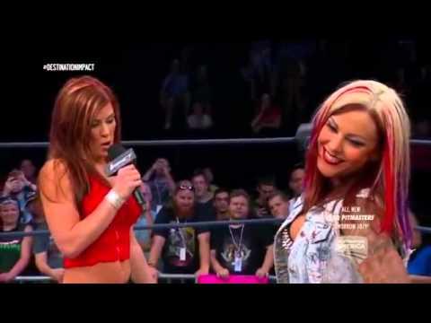 720pHD: iMPACT Wrestling 06.03.15: Madison Rayne, Velvet Sky & Angelina Love Segment