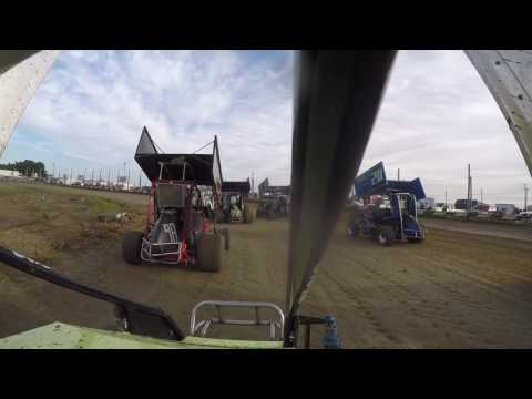 Miami County Speedway Wing Class Heat Race 9-4-2016