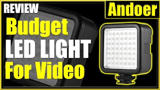 Best Budget LED Light for Video | Andoer W49 Review
