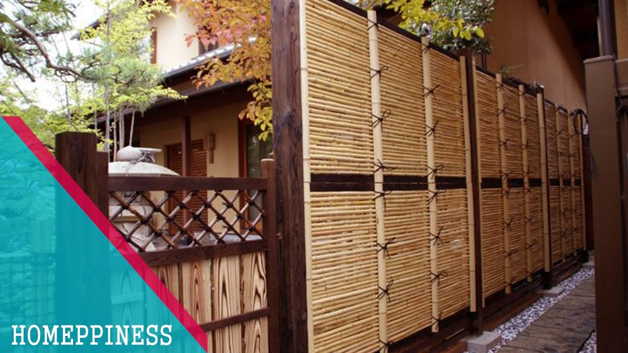 (CREATIVE DESIGN) 25+ Awesome Bamboo Fence Ideas With Wood Post