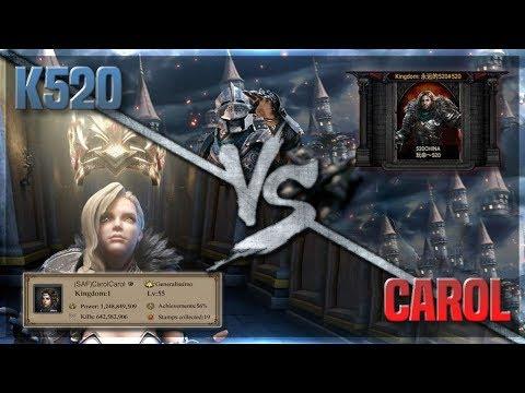 CAROLCAROL K1 Vs C0K 520 In KINGDOM WARS(WITH REPORTS)!!! Clash Of Kings