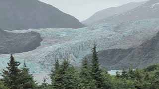 THE MENDENHALL GLACIER and NUGGET FALLS, JUNEAU, ALASKA