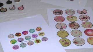 Glass Pendant Necklace DIY Tutorial Using Digitalcollageclub.com Images