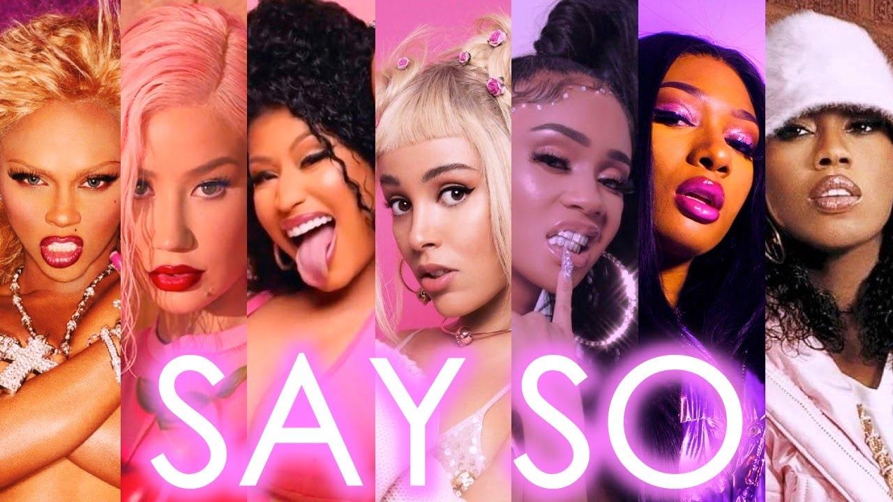 Download Doja Cat - Say So (Female Rap Remix) ft. Nicki Minaj, Iggy Azalea, Megan Thee Stallion & More!