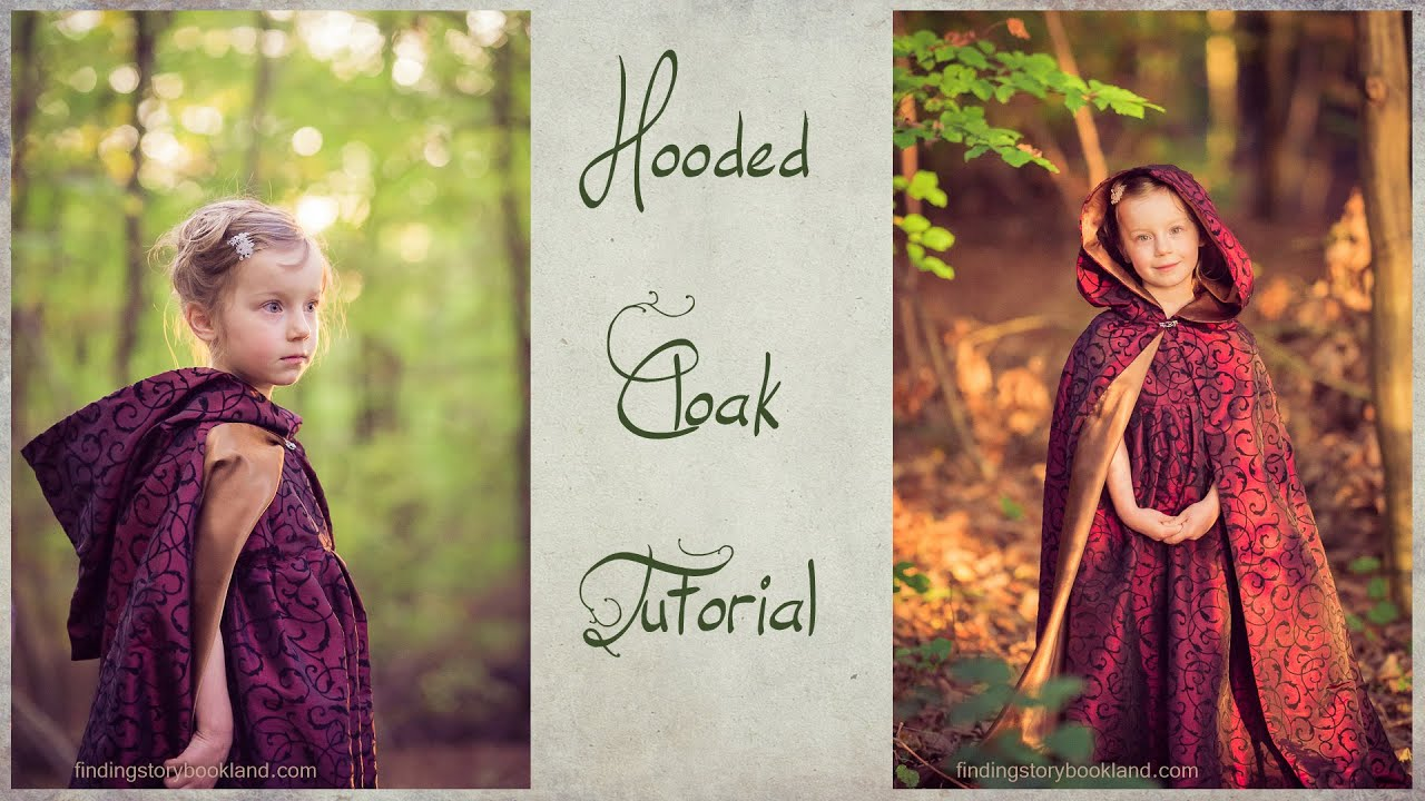 DIY Hooded Cloak Tutorial - How to sew a lined, hooded cape - YouTube