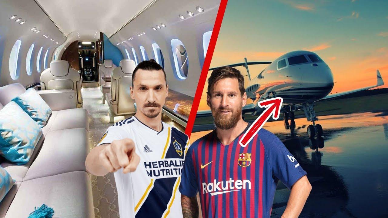 Los 10 Aviones privados MÁS CAROS de los CRACKS del fútbol - YouTube