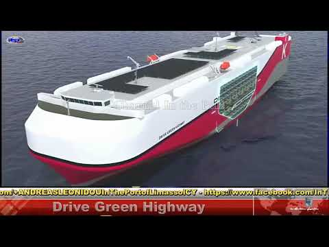 World's largest solar energy Ship DRIVE GREEN HIGHWAY