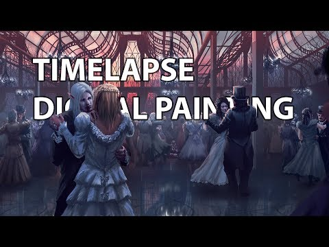 Timelapse Digital Painting – Dance | enviro interior concept art illustration speedpainting