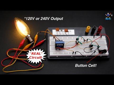 How To Really Make AAA (1.5V) Battery To 220V AC Inverter