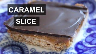 Original Caramel Slice || Quick and Simple || Vegan