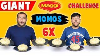 6X BIG MAGGI MOMOS EATING CHALLENGE   Spicy Maggi Noodles Momos Eating Competition   Viwa Food World