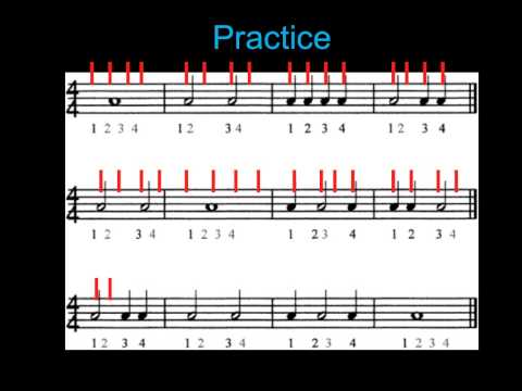 Rhythm Practice: 4/4 Time Signature