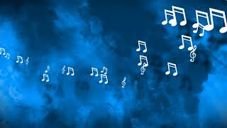 Music Notes floating from side - Watercolor Background // Free Motion Graphics
