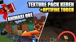 TEXTURE PACK KEREN !!!! + OPTIFINE TORCH + SUPPORT RAM 1GB 😱 Minecraft Indonesia