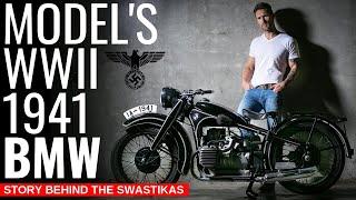 1941 WW2 NAZI BMW WAR MOTORCYCLE — The Dark History Behind It's Swastikas
