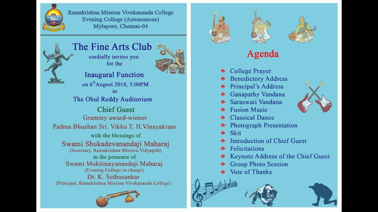 Fine Arts Club Inauguration Function 2018-19